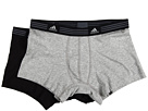 adidas - Athletic Stretch 2-Pack Trunk (Heather Grey/Black)