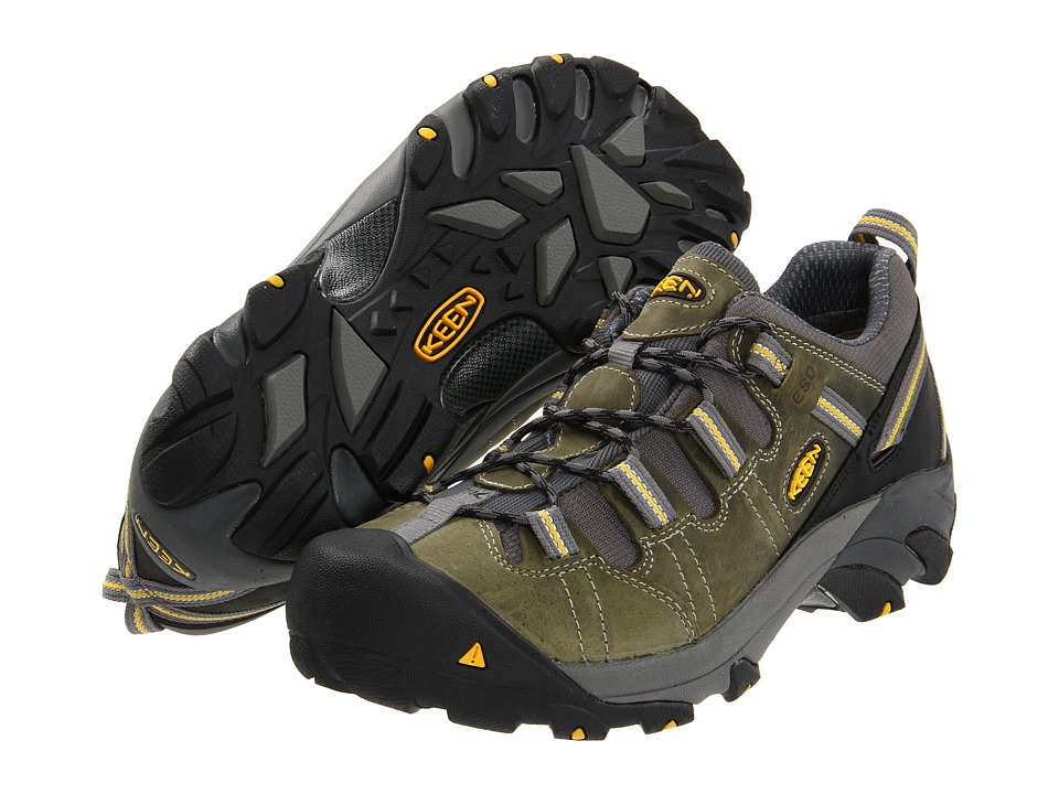 Keen Utility Detroit Low ESD Soft Toe (BLACK / GREEN) Men