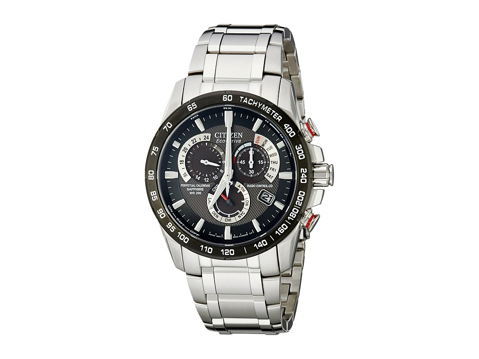 Citizen Watches - AT4008-51E Perpetual Chrono A-T Watch (Two-Tone Stainless Steel/Black) Watches