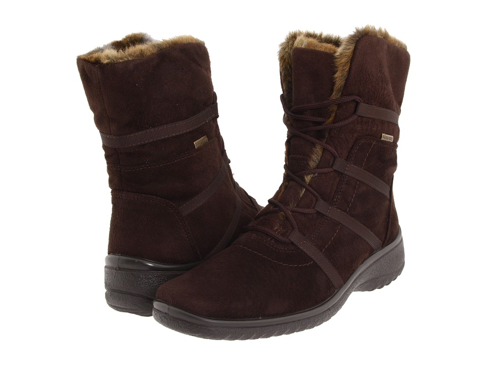 ara Magaly GORE-TEX (Brown Synthetic Suede w/ Beige Fur Trim) Women