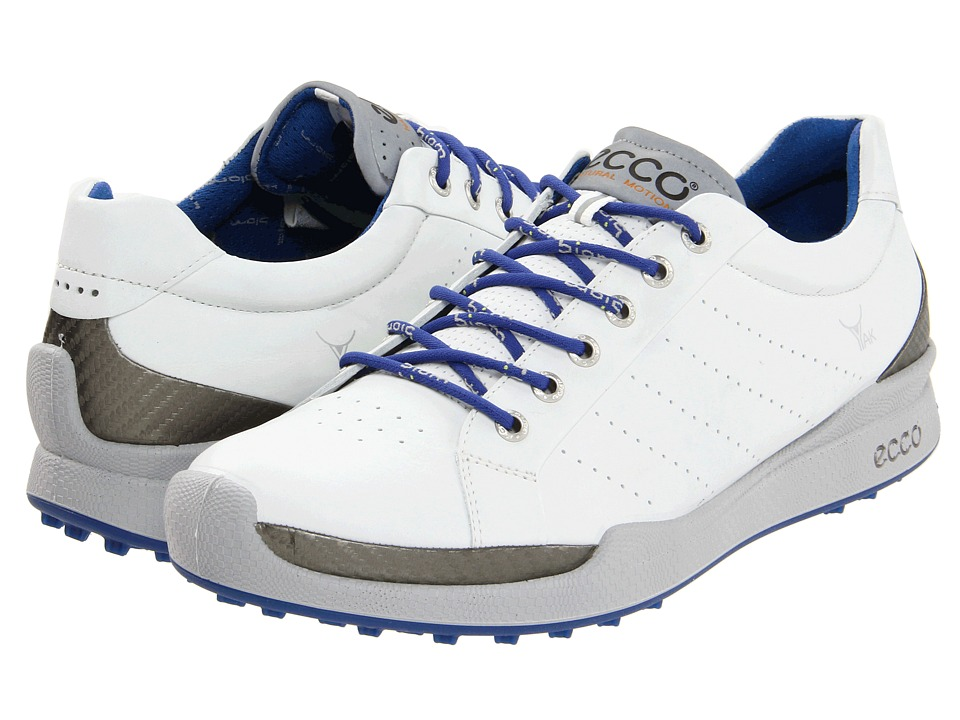 ECCO Golf Biom Golf Hybrid White/Royal Mens Golf Shoes