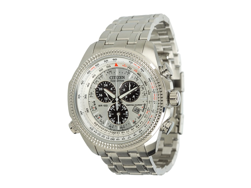 Citizen Watches BL5400 52A Eco Drive Stainless Steel Sport Watch Stainless Steel/Silver Watches