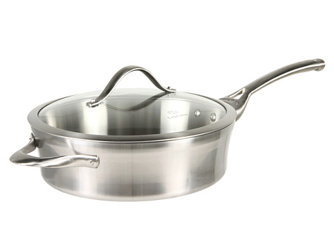 Calphalon Contemporary Stainless Steel 3 qt Saute Pan with Lid New