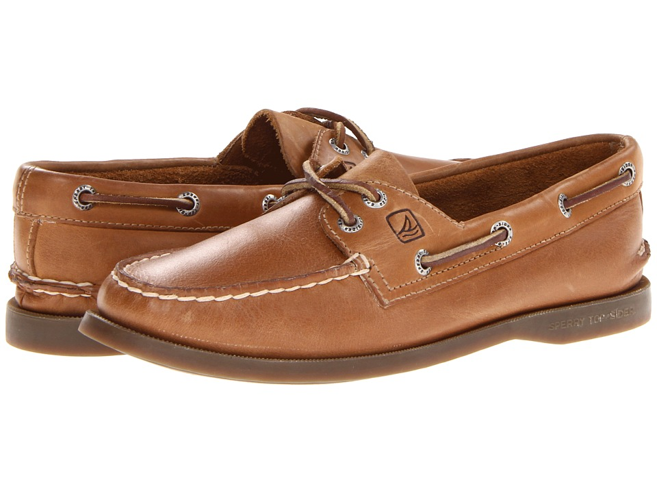 Sperry Top-Sider A/O 2 Eye (Sahara W/Honey Outsole)