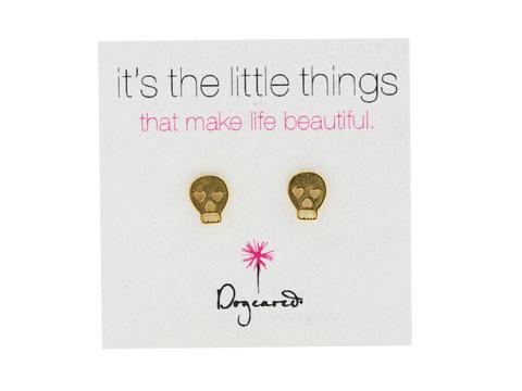 Dogeared It's The Little Things Earrings Skull