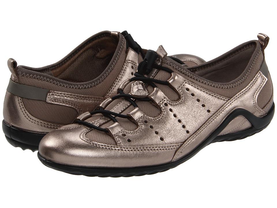 ECCO Vibration II Toggle Warm Grey Metallic/Moon Rock Womens Lace up casual Shoes
