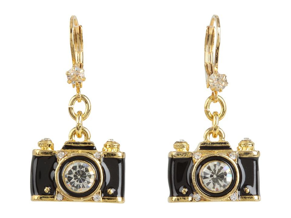 Betsey Johnson - Royal Engagement Camera Stud Earrings