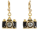 Betsey Johnson Royal Engagement Camera Stud Earrings