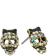 Betsey Johnson - Dark Forest Small Skull Stud Earrings
