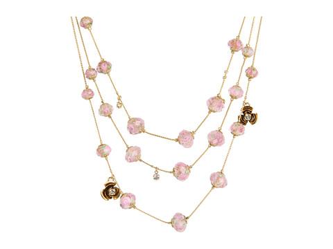 Betsey Johnson Tzarina Beads Flower Necklace