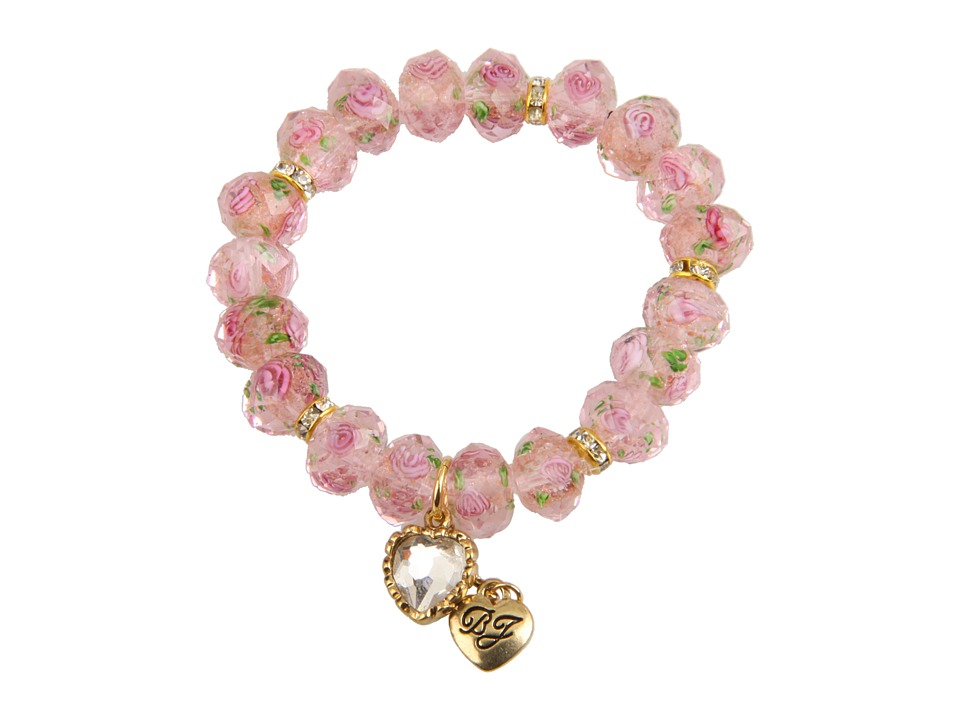 Betsey Johnson - Tzarina Pink Beads Stretch Bracelet (Pink) Bracelet