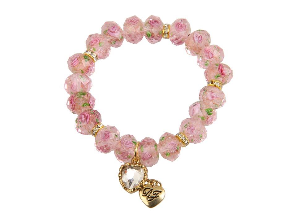Betsey Johnson - Tzarina Pink Beads Stretch Bracelet