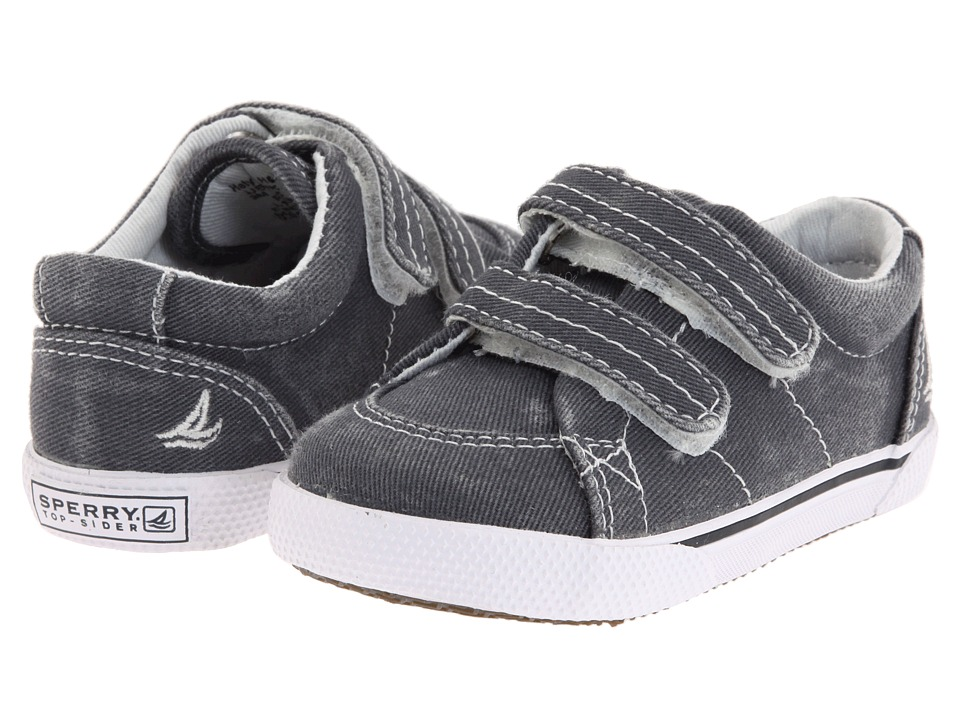 Sperry Kids Halyard HL Crib (Infant/Toddler) (Navy Canvas) Boys Shoes