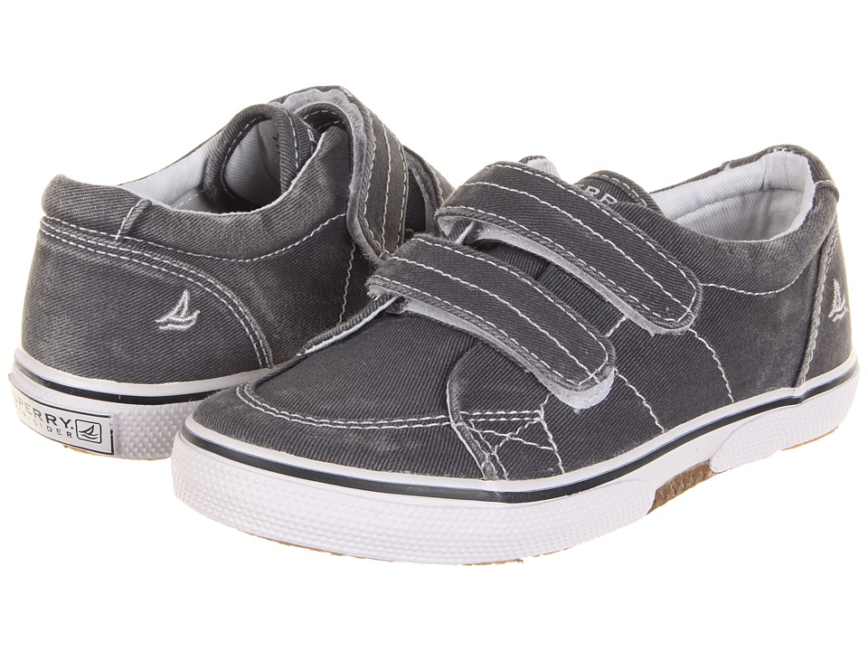 Sperry Kids Halyard HL (Toddler/Little Kid) (Navy Saltwash Canvas) Boys Shoes