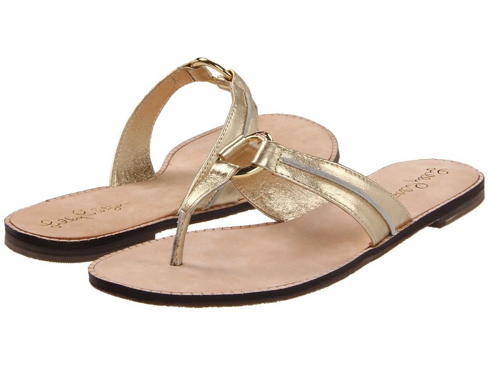Lilly Pulitzer McKim Sandal (Gold Metal) Sandals