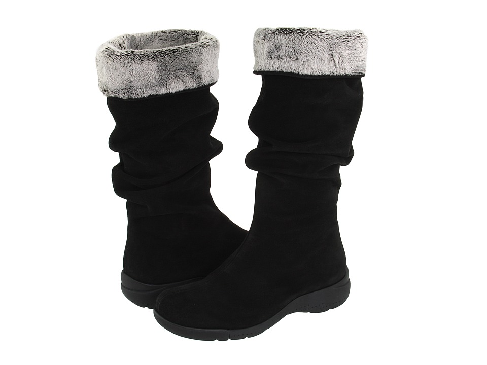 La Canadienne - Trevis (Black Suede) Womens Pull-on Boots