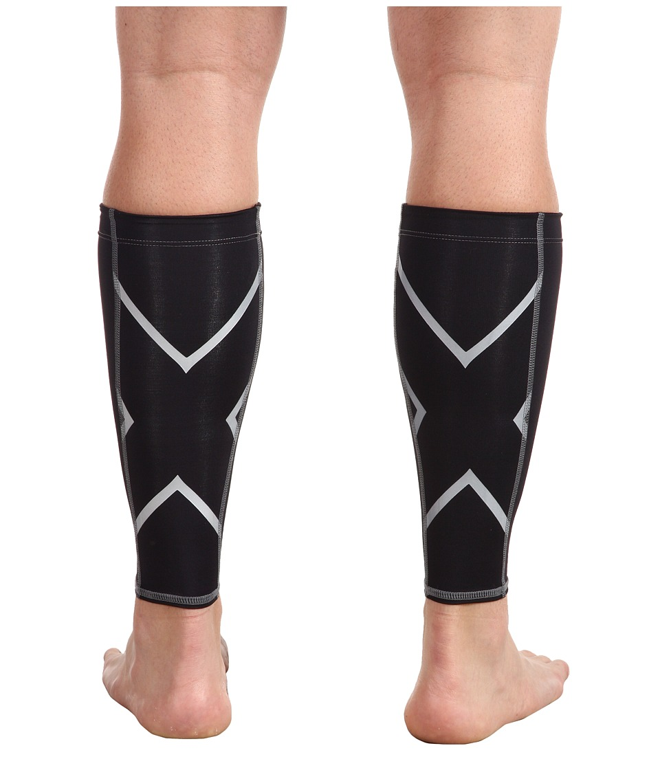 2XU - Non-Stirrup Calf Guard (Black/Black) Athletic Sports Equipment