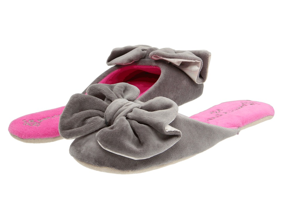 Patricia Green Betty Bow (Grey) Slippers