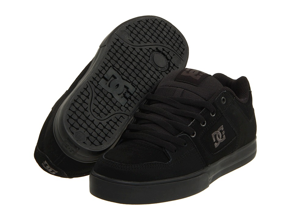 DC - Pure (Black/Pirate Black) Mens Skate Shoes