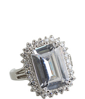 CZ By Kenneth Jay Lane - CZ Empress Cut Ring with Pave Trim