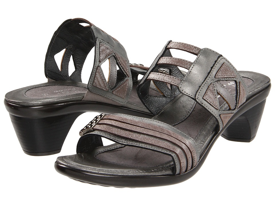 Naot Footwear Afrodita Sterling Leather/Silver Threads Leather/Mirror Leather Womens Sandals