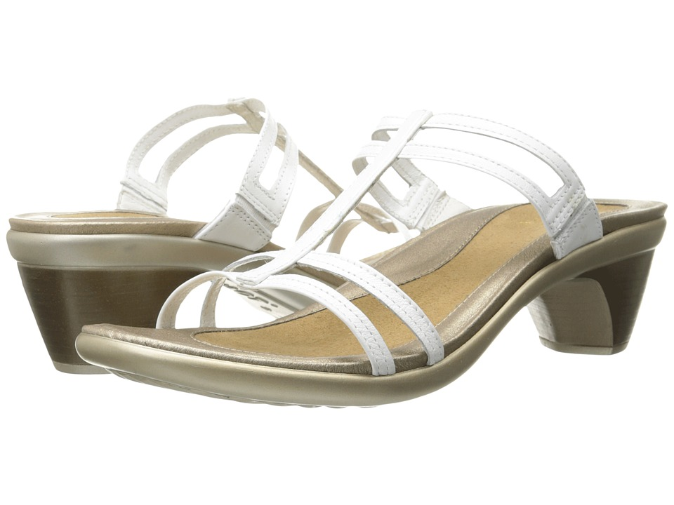 Naot Footwear Loop (White Leather) Sandals