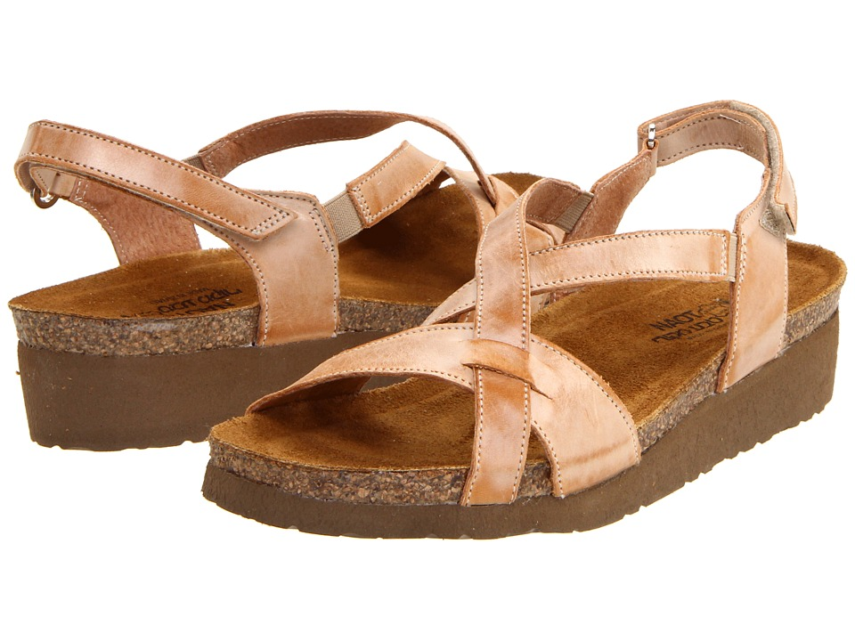 Naot Footwear Bernice Biscuit Leather Womens Sandals