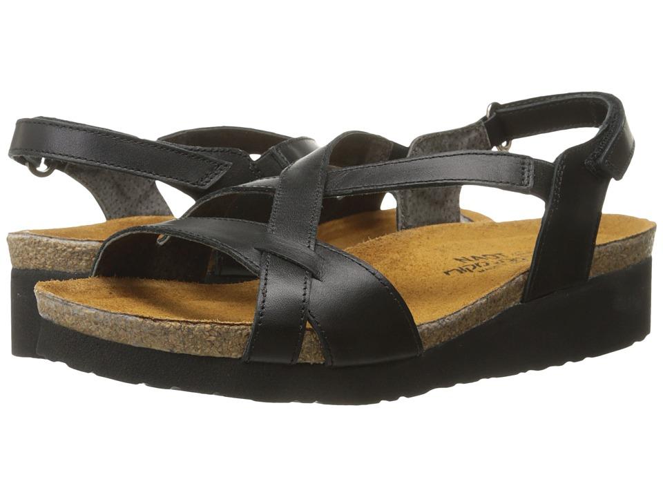 Naot Footwear Bernice Black Raven Leather Womens Sandals
