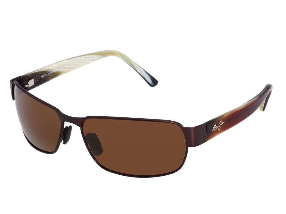 Maui Jim Black Coral Matte Espresso Sport Sunglasses