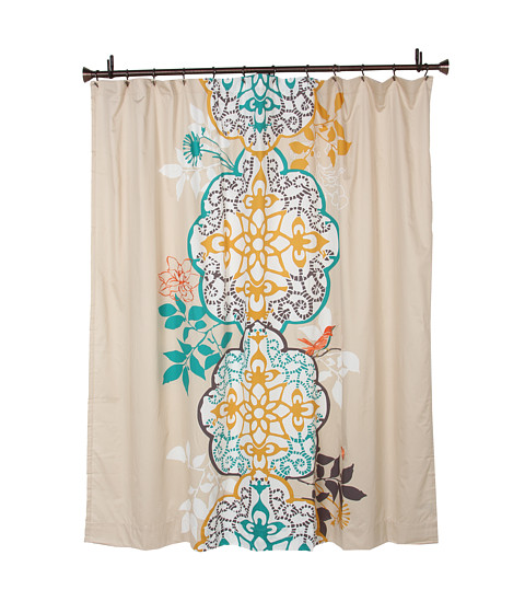 Coral Colored Shower Curtain