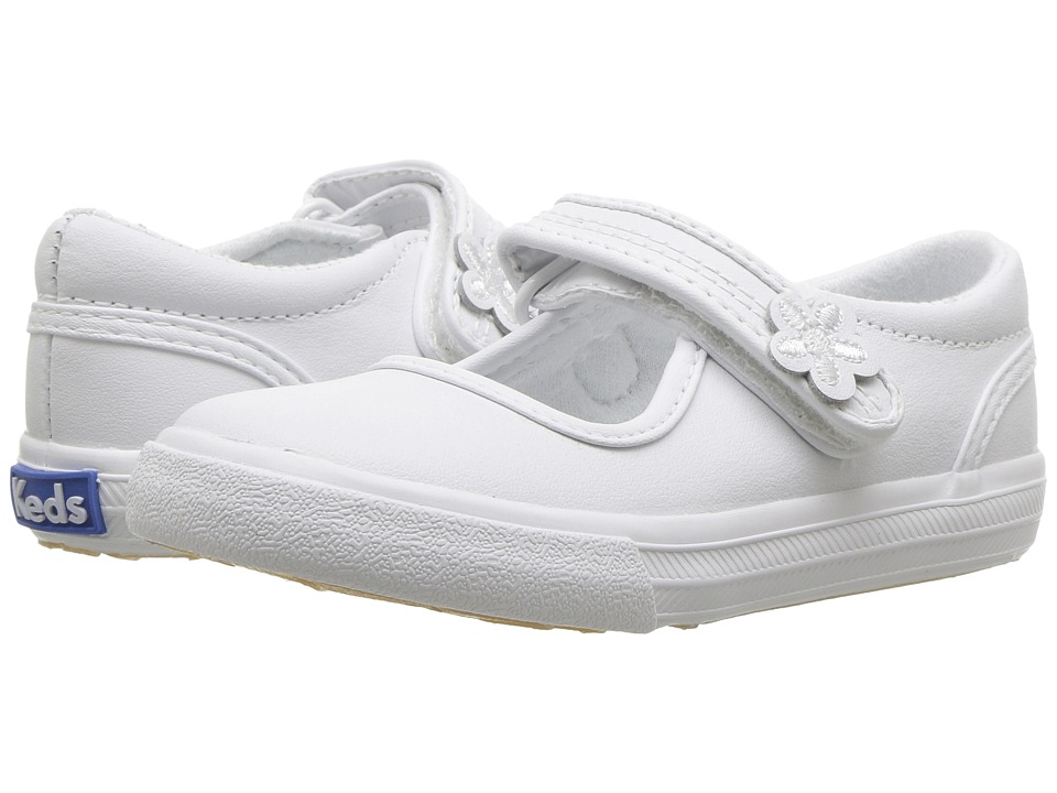 Keds Kids Ella MJ (Toddler/Little Kid) (White) Girls Shoes
