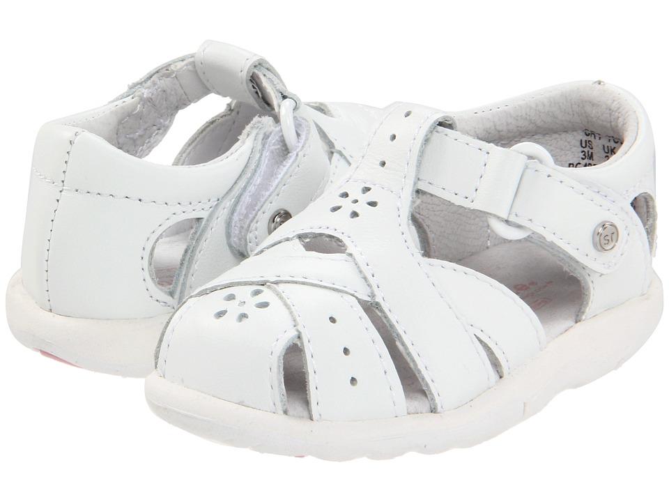 Stride Rite SRT Tulip (Infant/Toddler) (White) Girls Shoes