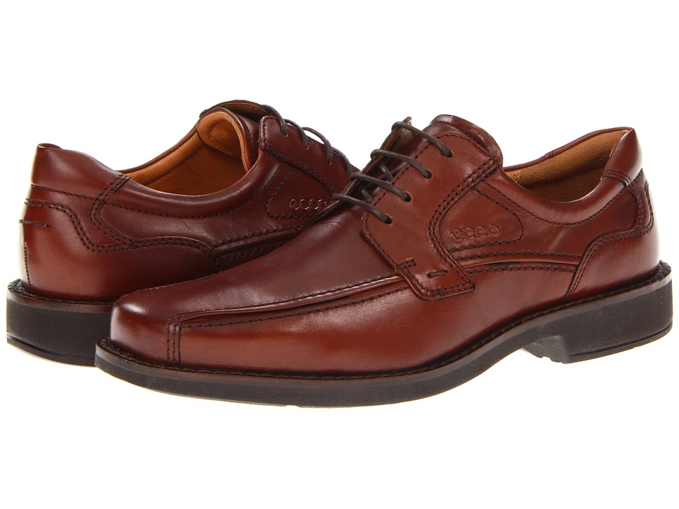 ECCO Seattle Bicycle Toe Tie (Cognac) Men