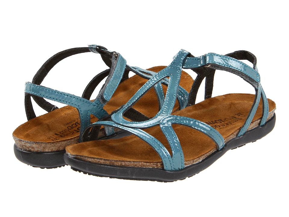 Naot Footwear Dorith (Teal Patent Leather) Sandals