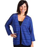 Jones New York - Petite 3/4 Sleeve Multi Yarn Striped Cardi