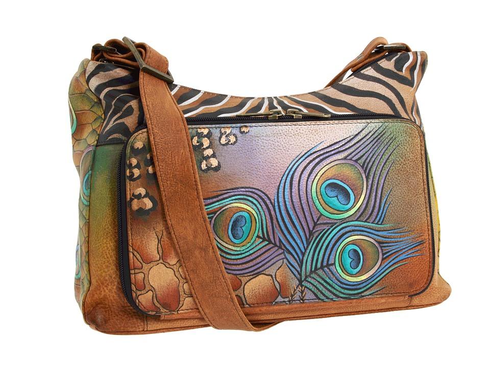 Anuschka Handbags - 479 (Peacock Safari) Handbags