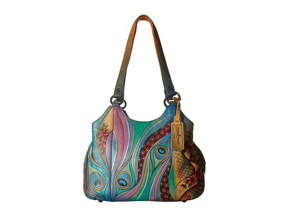 Anuschka Handbags - 469 (Dancing Peacock) Handbags