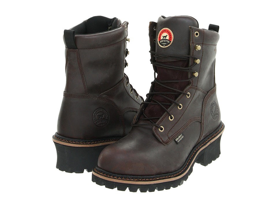 Irish Setter 83808 8 Steel Toe Waterproof Logger Brown Mens Work Boots