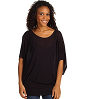Three Dots - 1/2 Sleeve Open Crew Neck Top