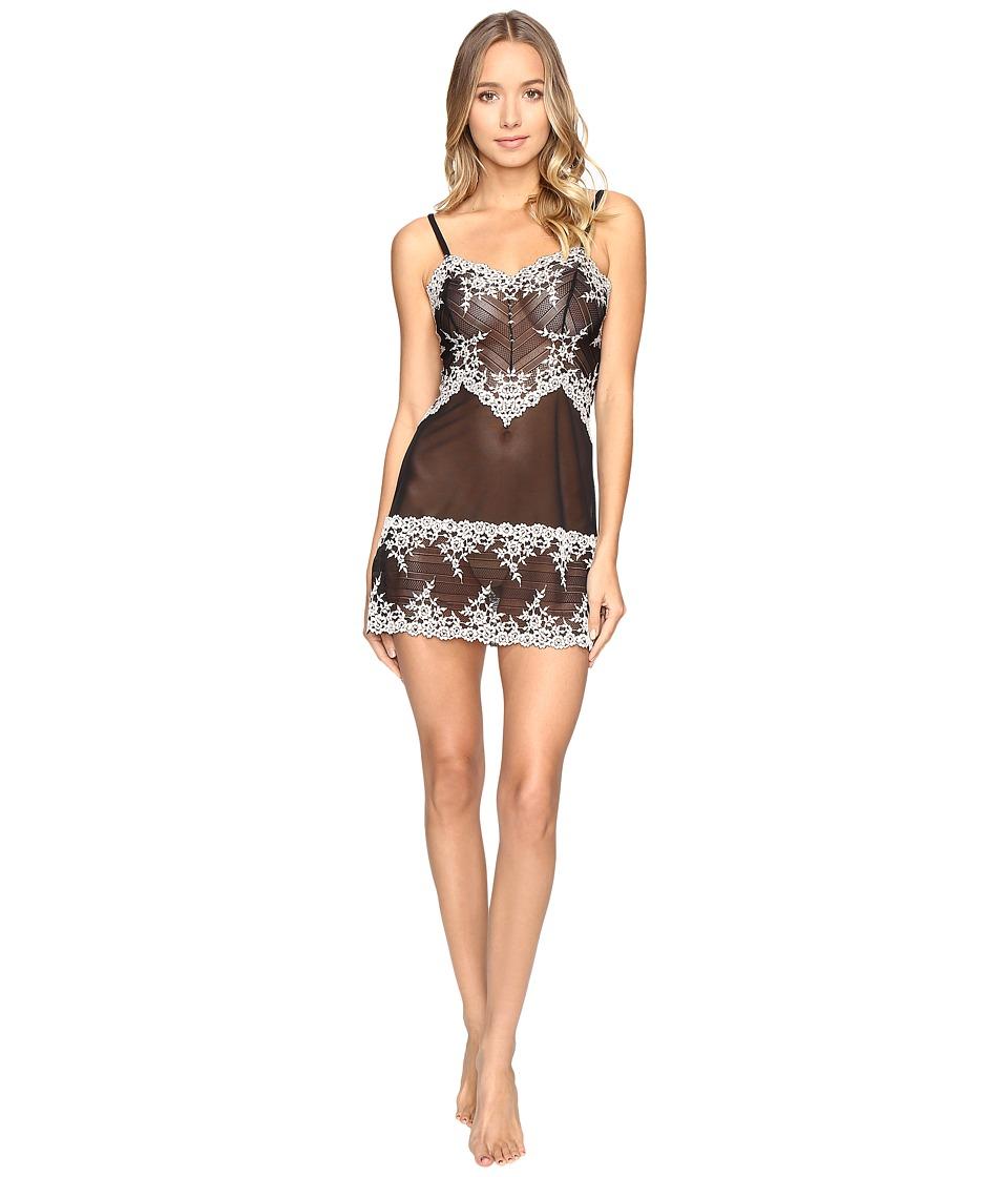 Wacoal - Embrace Lace Chemise (Black) Womens Lingerie