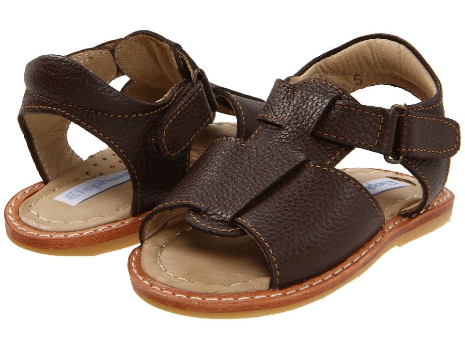 Elephantito Boy Sandal Infant/Toddler Chocolate Boys Shoes