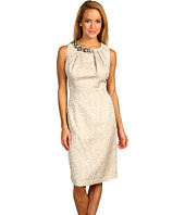 Max and Cleo - Gold Jacquard Beaded Dress