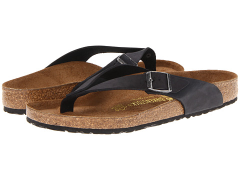 Birkenstock Adria (Black Oiled Leather) Sandals