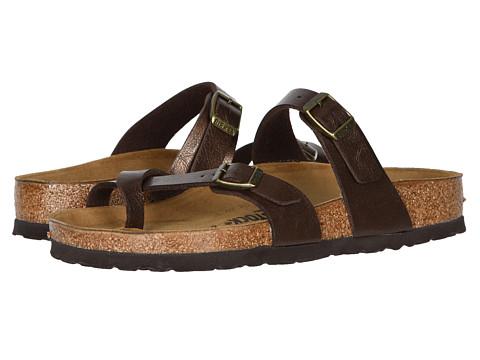 Birkenstock Mayari R Leather Womens Thong Sandals Toffee 37 M