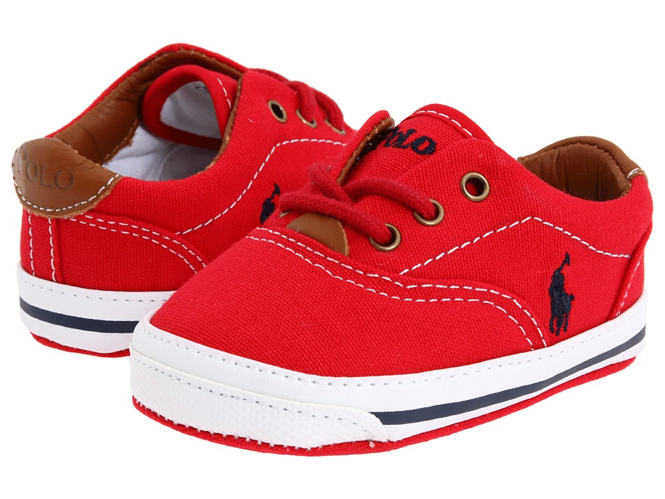 Polo Ralph Lauren Kids - Vaughn (Infant/Toddler) (Ribbon Red/Blue Atoll/Ivory) Girls Shoes