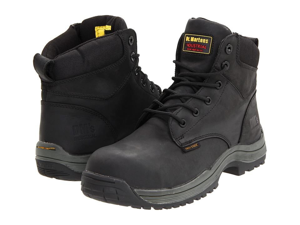 Dr. Martens Work Falcon SD 6 Tie Boot Black Industrial Greasy Mens Work Lace up Boots