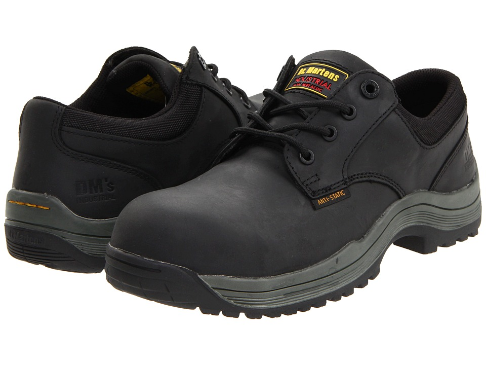 Dr. Martens Work Hawk SD 4 Eye Shoe (Black Industrial Greasy) Men