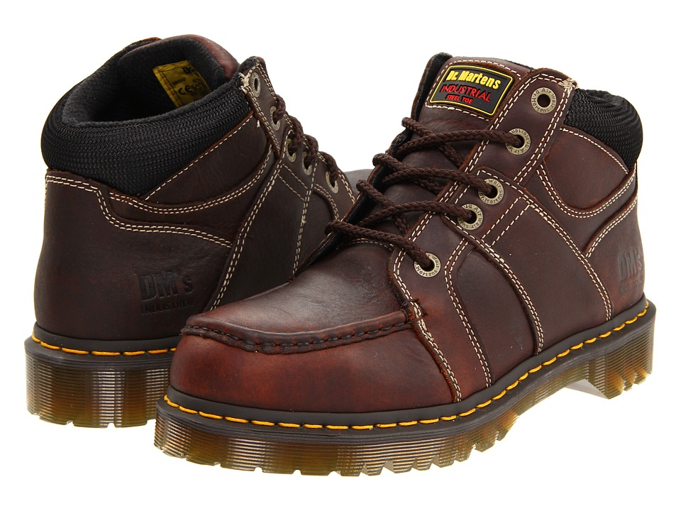 Dr. Martens Work Darby ST 5 Eye Moc Toe Boot Teak Industrial Bear Mens Work Lace up Boots