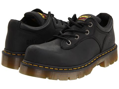 Dr. Martens Work Naseby ST 4 Tie Shoe - Black Industrial Greasy