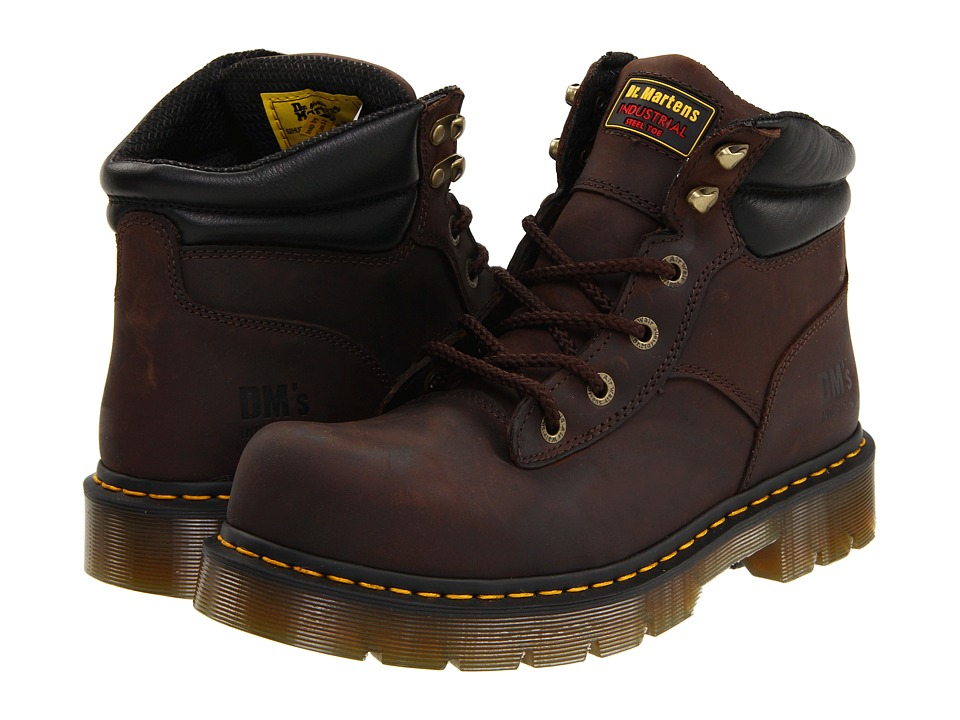 Dr. Martens Work Burnham ST 6 Tie Boot Gaucho Volcano Work Lace up Boots